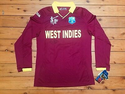 West Indies 2015 World Cup Holder #98 Joma L/s Player Shirt Jersey Small