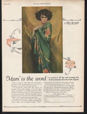 1926 Mum Deodorant Perspiration Toilet Beauty Sexy Chambers After Bath Ad 22298