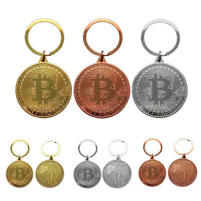 Bronze Bitcoin Keyring Alloy Pendant Round KeyChain BTC UK SELLER collection