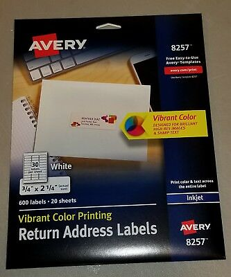 avery vibrant color printing shipping labels 3 x 3 3 4 white 150