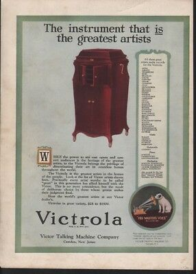 1920 Victor Victrola Phonograph Ist Instrument Music9950