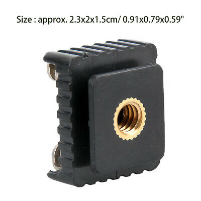 """Hot Shoe Mount Adapter to 1/4"""" Screw Thread for Photograph Flash Stand Tripod"""