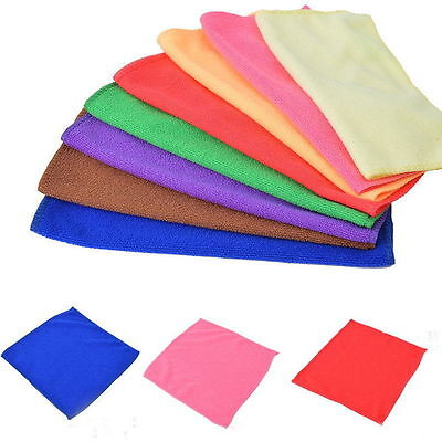1-10pcs Microfiber Cleaning Cloth Towel Car Polishing Household Duster Valeting