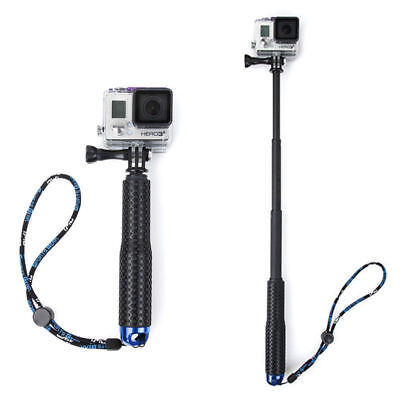 Extendable Pole Mini Selfie Stick Waterproof Monopod Blue GoPro Hero 4/3/3+ New