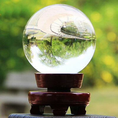 Clear K9 Crystal Photography Lens Ball Photo Prop Background Home Decor Gift AU