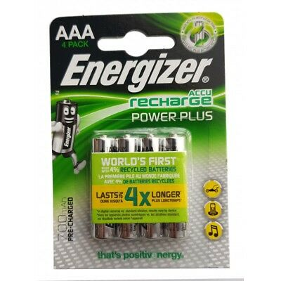 Energizer Power Plus 700mAh Pre Charged AAA Rechargeable Batteries NiMH HR3