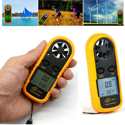 Ce Approved Digital Handheld Anemometer Wind Speed Meter Thermometer Sailing Lc