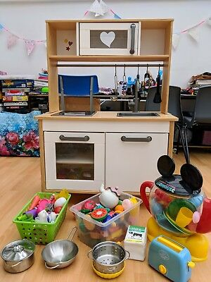 ikea childrens kids toy play kitchen with lots of accessories