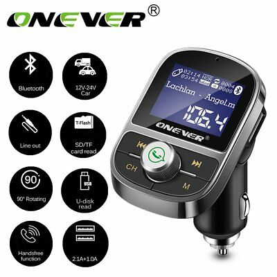 ONEVER Wireless Bluetooth Car Kit Auto Radio KFZ Adapter FM Transmitter MP3 USB