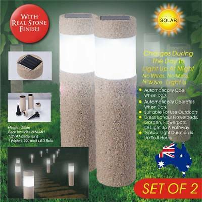 Garden Path Solar Powered Super Bright Modern Sand-blasting Lamp Lawn Light AU