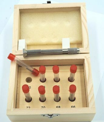 Set Of 81 Hss Number Wire Gauge Micro Drills With Pin Vice 66 - 80