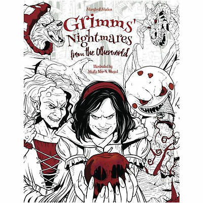 Nightmares Adult Colouring Book Grimm Fairy Tales Horror Dark Fantasy Mystical