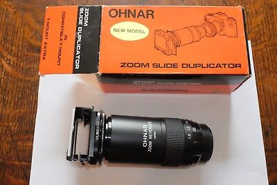 photographic Bush & Meissner Ohnar Zoom slide duplicater in box. Reduced!