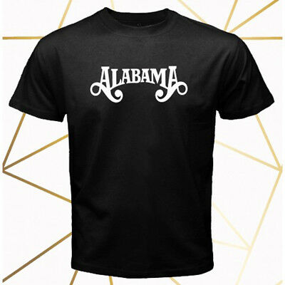 4b884d11371b ALABAMA American Country Band Legend Logo Men's Black T-Shirt Size S-3XL