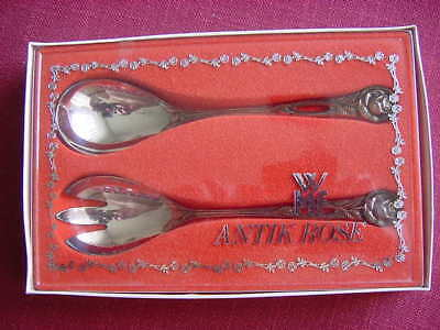 WMF Antique Rose 90 A Silver Plated Salad Cutlery NEW AND SEALED