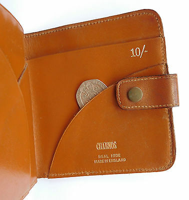 Charnos leather wallet for £1 10/- notes vintage 1940s 1950s embossed initial G