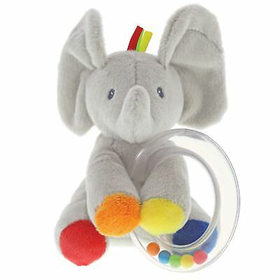 Gund Baby 4060907 Flappy the Elephant Rattle Soft Plush Toy