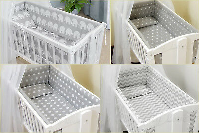 All Round Nursery bumper approx. 260cm long/ Paded/ to fit Swinging Crib/Cradle.