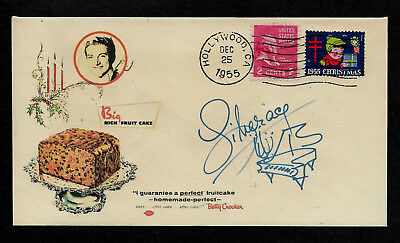 Liberace Fruit Cake Ad  Ltd Edition Collector's Envelope Repro Autograph *XS1046
