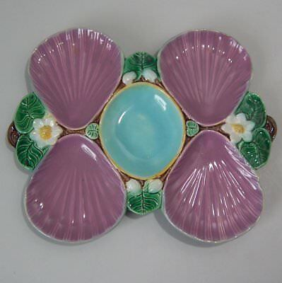 Holdcroft Majolica Lily Oyster Dish