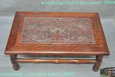 chinese Huanghuali wood Carving Dragon Classical furniture coffee table Tea desk