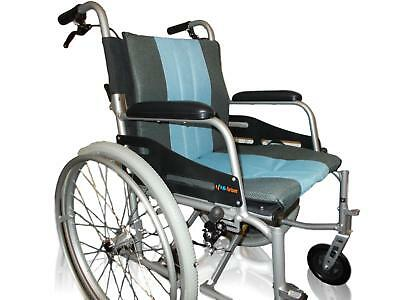 Hi Fortune Self Propelled Manual Wheelchair Blue Magnesium Alloy Lightweight