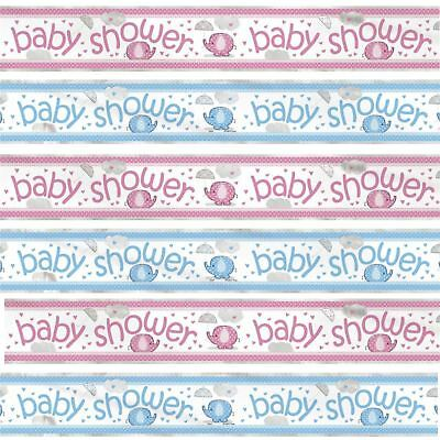 12ft Baby Shower Elephant Foil Banner Blue Pink Party Decorations Boy Girl