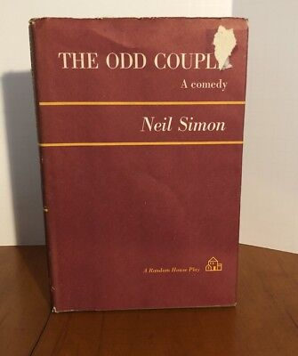 First Edition 1966 The Odd Couple Neil Simon HC w/DJ Walter Matthau Art Carney