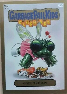 Garbage Pail Kids Green Jean Gold Border . Flashback Series