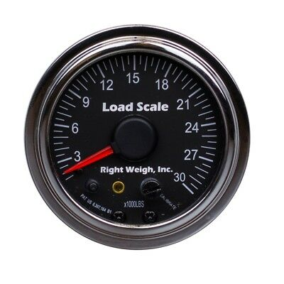 Right Weigh 510-30-C Chrome SINGLE Axle Load Scale for Single HCV Air Suspension