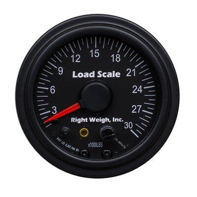 Right Weigh 510-30-B Chrome SINGLE Axle Load Scale for Single HCV Air Suspension