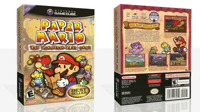 Paper Mario The Thousand Year Door Game Cube Case + Box Art Work Cover No Game