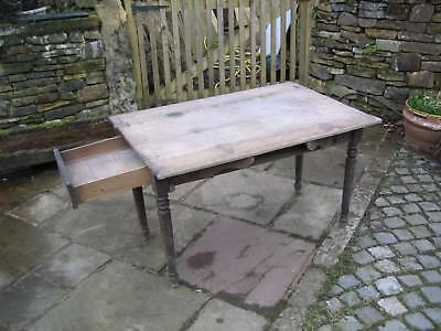 1800s OAK TABLE (MAY BE EARLIER) 1140mm LONG X 880mm WIDE X 760 HIGH NEEDS TLC