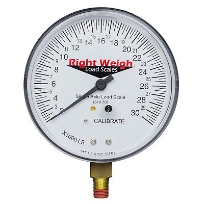 Right Weigh REPLACEMENT GAUGE 310-30-GO SINGLE Axle Onboard Load Scale