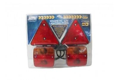 MP44912 12V Magnetic Lighting Pod With Triangles And 6M Trailer Cable