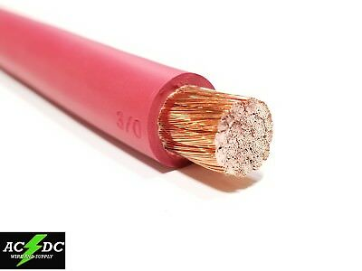 WELDING CABLE 3/0 RED PER FOOT BATTERY LEADS USA NEW Gauge Copper AWG 600V SAE