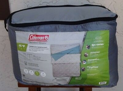 Coleman Tandem 3 In 1 And Tall Double Sleeping Bag