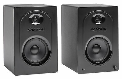 "Pair Samson M50 5"" Powered Studio/Computer/Podcast Reference Monitors Speakers"