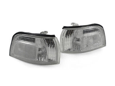 DEPO All Clear Replacement Front Corner Signal Lights Fit for 90-91 Honda Accord