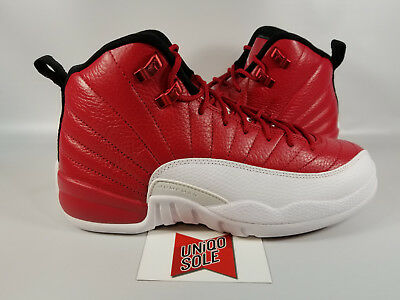 detailed look a969f 4808a Nike Air Jordan XII 12 Retro GS ALTERNATE WHITE RED 153265-600 sz 5Y