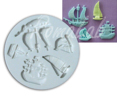 Alphabeth Moulds - Stampo silicone pirati e barche (mould)