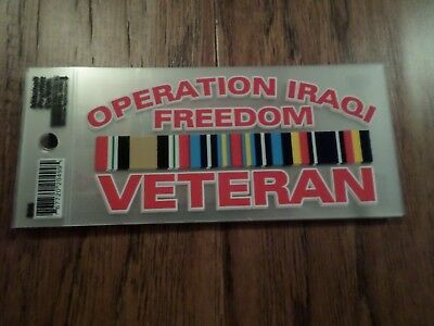 U.s Military Operation Iraqi Freedom Oif Veteran Window Decal Bumper Sticker