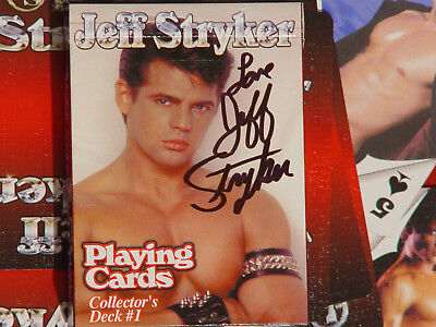 Jeff Stryker Playing cards Vol 1 and 2 artistic N udes included signed by Jeff .