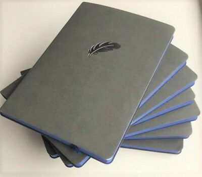 IDNY Leather Journal Leather Writing Notebook Soft Leather Cover Dark Gray/Grey