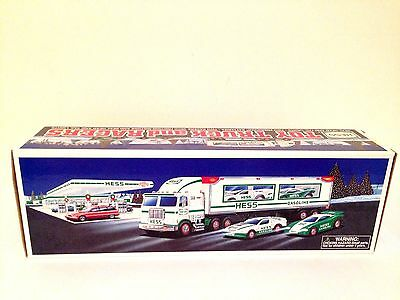 1997 Hess Toy Truck and Racers - MINT IN BOX