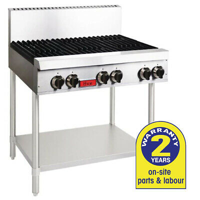 Open Gas Hob 6 Burner on Stand, LPG Cooktop Thor Commercial Equipment