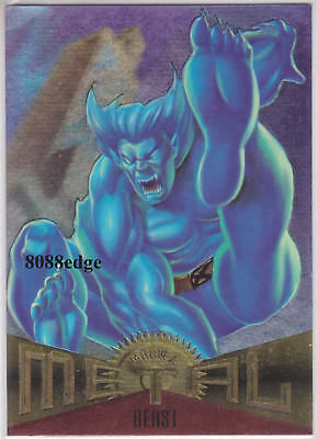 "1995 Fleer Marvel Metal Promo Card: ""beast"" Promotional Sample Inaugural Edition"