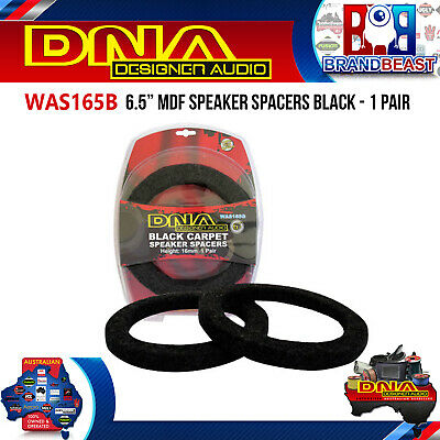 "DNA WAS165B 6.5"" MDF Speaker Spacers Black 1 Pair"