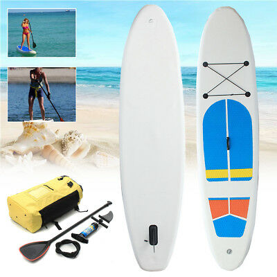 10FT SUP Inflatable Surfing Board Soft Surf Stand Up Paddle Board 305X81X10 CM