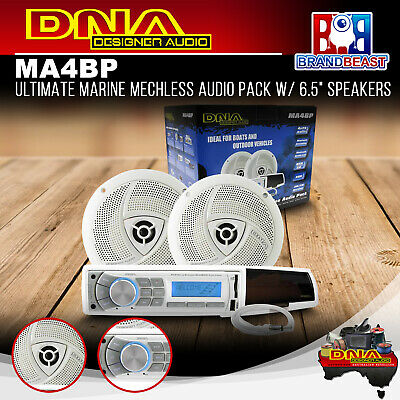 "DNA MA4BP Ultimate Marine Mechless Audio Pack w/ 6.5"" Speakers"